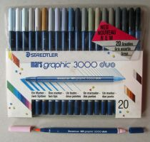 Staedtler Marsgraphic 3000 Duo Brush Markers by pesim65