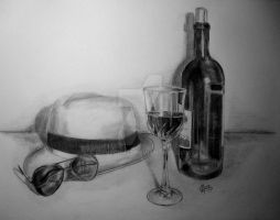 hat,sunglasses,cup and bottle by IreneGnr22