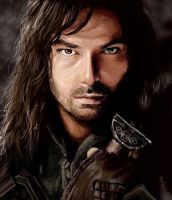 Holiday Art Practice 10: Aidan Turner as Kili by IdaHarra