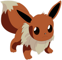 My first vector of Eevee. by Flutterflyraptor