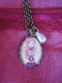 Victorian Rose Necklace by Miss-Maze