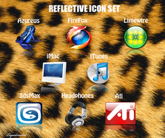 Reflective icon set by LiquidsnakE4
