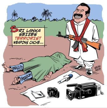 Sri Lanka press freedom by Latuff2