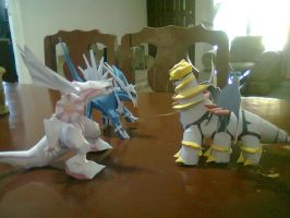 dialga,palkia and giratina by javierini