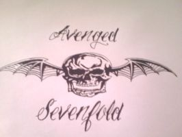Avenged sevenfold death bat drawing by gbftattoos