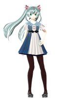 Project Diva Arcade Hatsune Miku karakuri pierrot by johnjan11