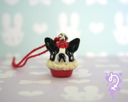 Critter Cupcake: Boston Terrier (custom order) by Nocty