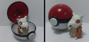 Pokeball Cubone Sculpt by Sara121089