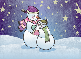 Snowman Hugs by Nyrak