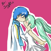 Miku and Kaito by Ailish-Lollipop