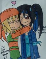 Mikey hugging Leo by Nicktoons4ever