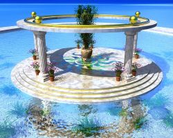 Atlantean Sun Shrine by someole3d