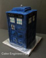 Tardis Cake 1 by cake-engineering