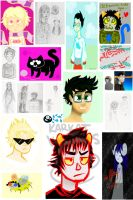 Homestuck Sketchdump by saevuswinds