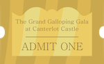 Grand Galloping Gala Ticket by noxwyll
