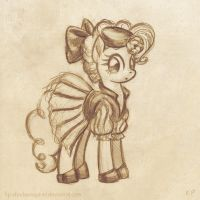 Pinkie in a 30's costume by KP-ShadowSquirrel
