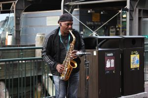 Saxophone player by vprima14