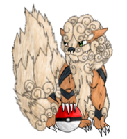 number 59 Arcanine by lolcatsarelol