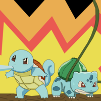 Team squirtle ans bulbasaur by athosiana