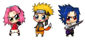 Team 7 chibis by lainchan