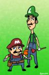 Mario And Luigi by Finfrock