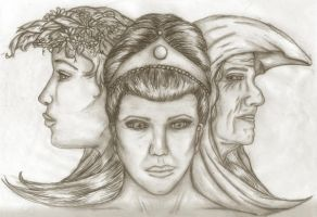 Triple Goddess by El-Sharra