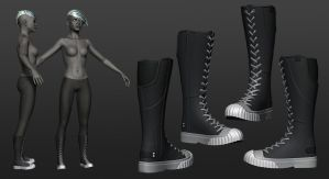 Comicon '10 Storm - Boot by polyphobia3d
