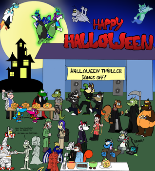 Halloween Group Pic 2013 by GatorArt27