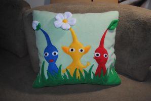 Pikmin pillow by Eyes5