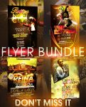CLUB FLYER BUNDLE - 4IN1 by retinathemes