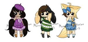 Random Collab Adopts  [Middle one OPEN] by MonochromeIllusion