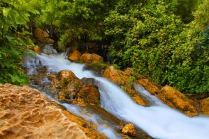 Waterfalls at Ahmad Awha, Iraq-Iran Border two by zanganabroeders