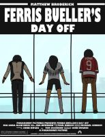 Ferris Bueller's Day Off Movie Poster Re-Design by SugarKills