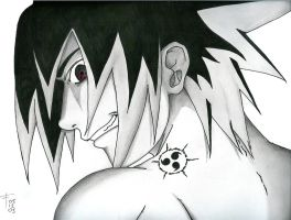 Sasuke - Cursed Seal by Hand-Drawn