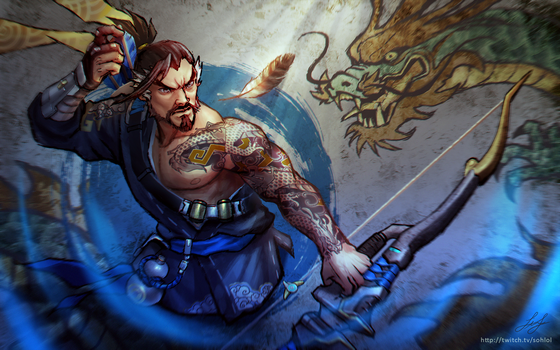 Overwatch - Hanzo and Genji Wallpaper by sohlol