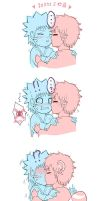 First Kiss in 5 seconds by lilacerise