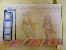 Doctor Who Crypt with Candy Girl by extraphotos