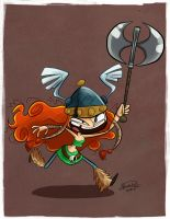 Day 2- Barbara the Barbarian by happydoodle