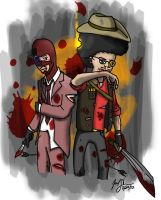 Sniper and Spy by cat-gray-and-me78
