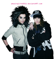 Kaulitz twins PNG stock 5 by amazinglife2011