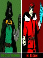 Doctor Doom and M. Bison comic print popart by TheGreatDevin