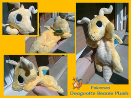 Dragonite Beanie Plush by methuselah-alchemist