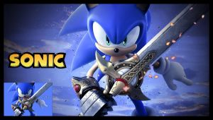 Sonic and the Dark Knight by near43
