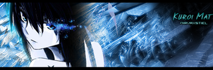 Black Rock Shooter Kuroi Mato Signature GFX by Nirvaxstiel
