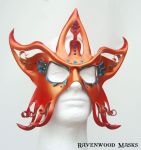 Circus Star - leather mask by Alyssa-Ravenwood