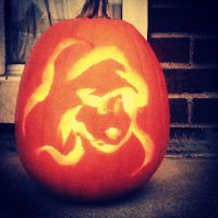 Ariel Pumpkin by littleredridinghood4