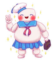 Stay Puft and Cute by JadeKingfisher