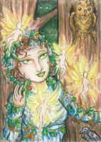 Forest Magic ACEO by Keyshe54