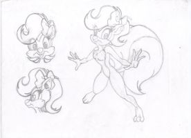 Fifi la fume (Tiny Toons) Concepto base by Geoterracon