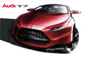 Audi T7 sketch by TonyWcK